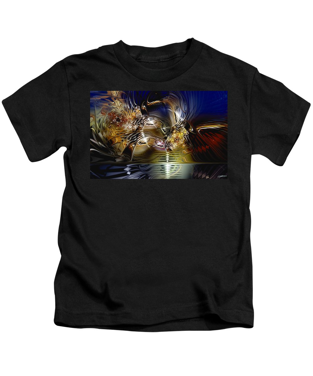 Abstract Kids T-Shirt featuring the digital art Reflections Of The Dervish by Casey Kotas