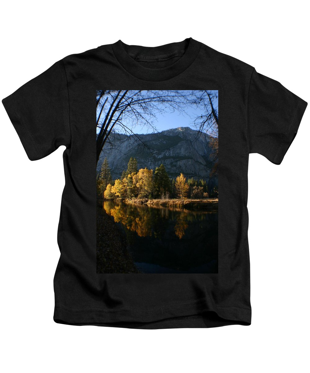 Yosemite Kids T-Shirt featuring the photograph Reflections by Travis Day