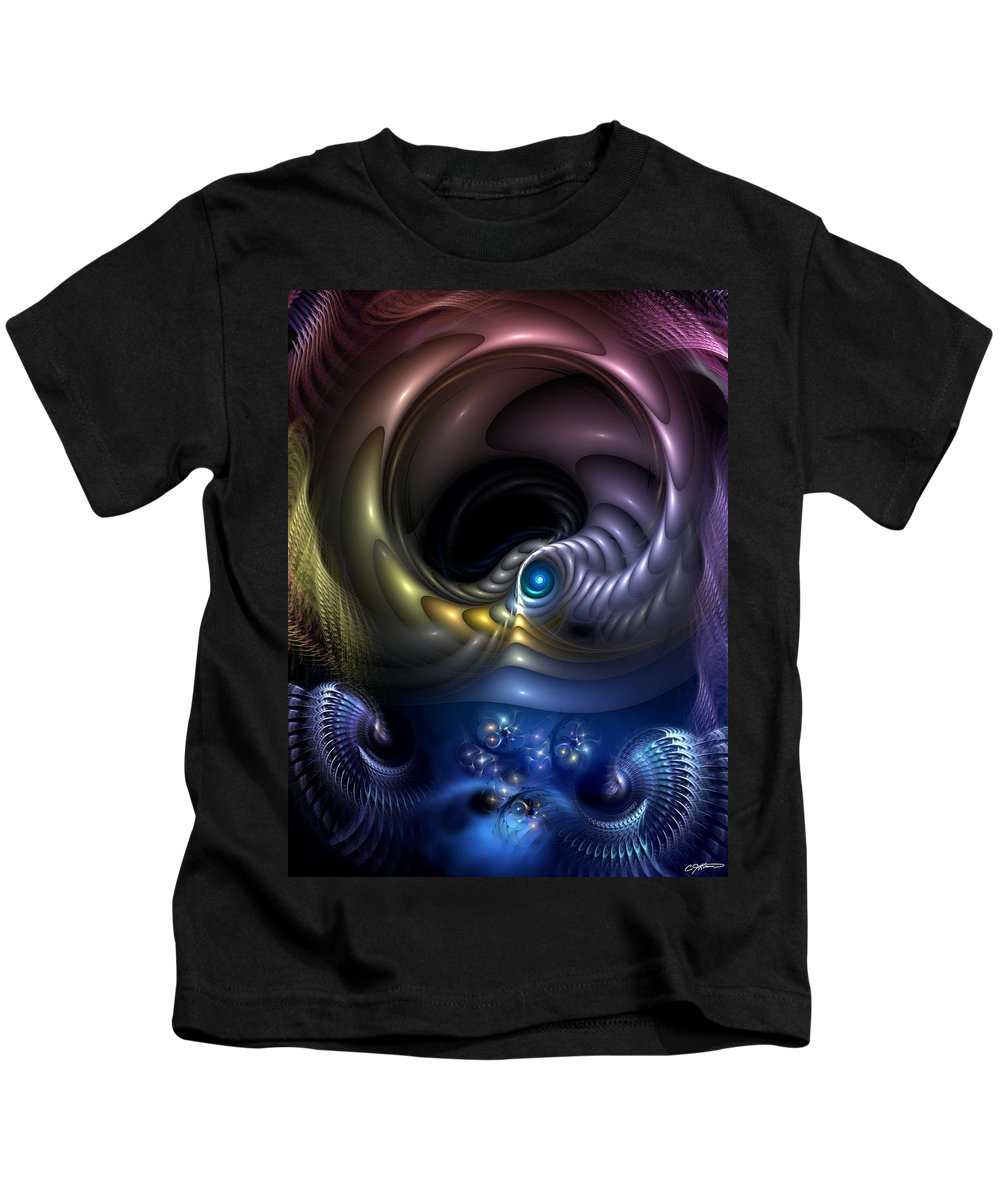 Abstract Kids T-Shirt featuring the digital art Reincarnation - The Quandary by Casey Kotas
