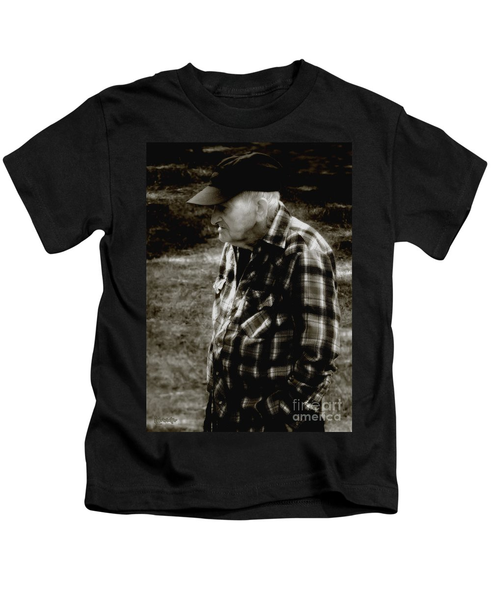 Farmer Kids T-Shirt featuring the photograph Remembering Hard Times by RC DeWinter