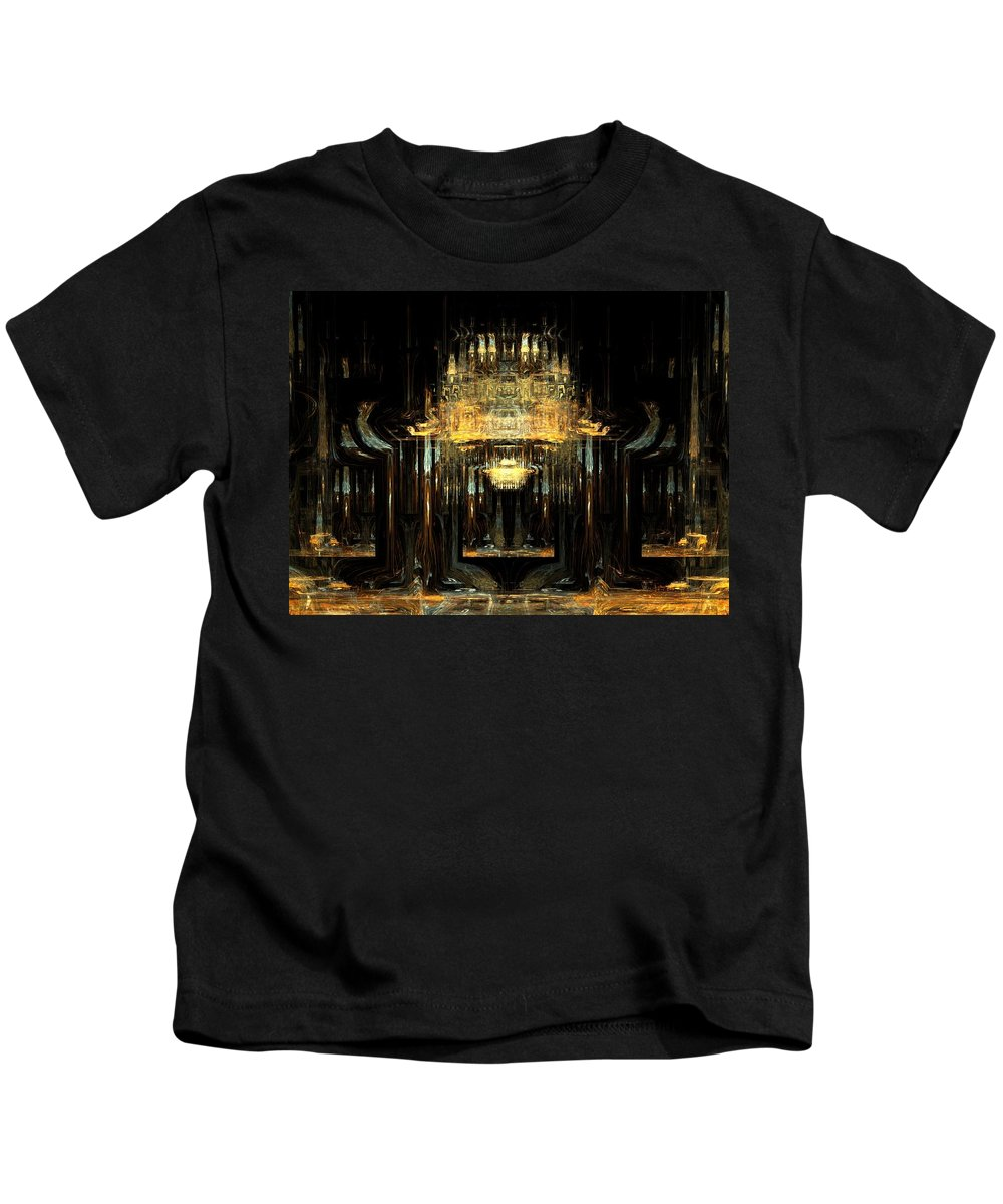 Pablo Kids T-Shirt featuring the digital art Hall Of Expectations by Abdi Darai