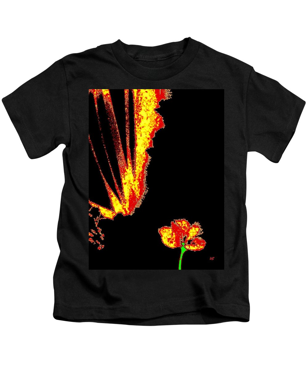 Abstract Kids T-Shirt featuring the digital art Reminiscence by Will Borden