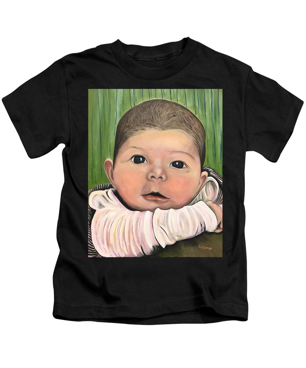 Glorso Art Kids T-Shirt featuring the painting Remy by Dean Glorso