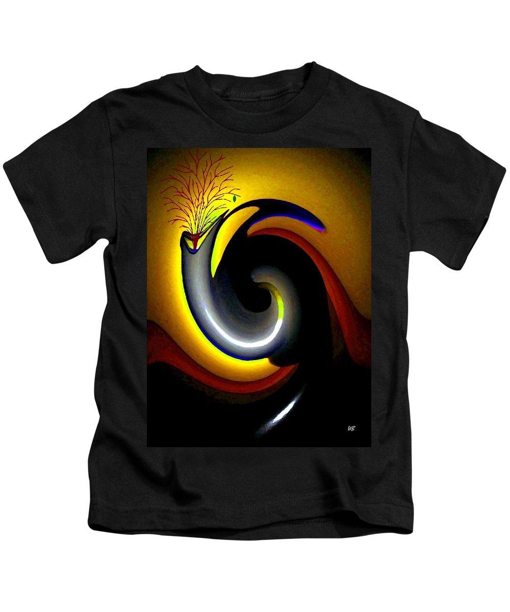 Rebirth Kids T-Shirt featuring the digital art Renaissance by Will Borden
