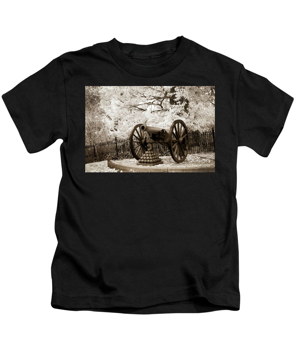 Civil War Kids T-Shirt featuring the photograph Retired From Honorable Service by Paul W Faust - Impressions of Light