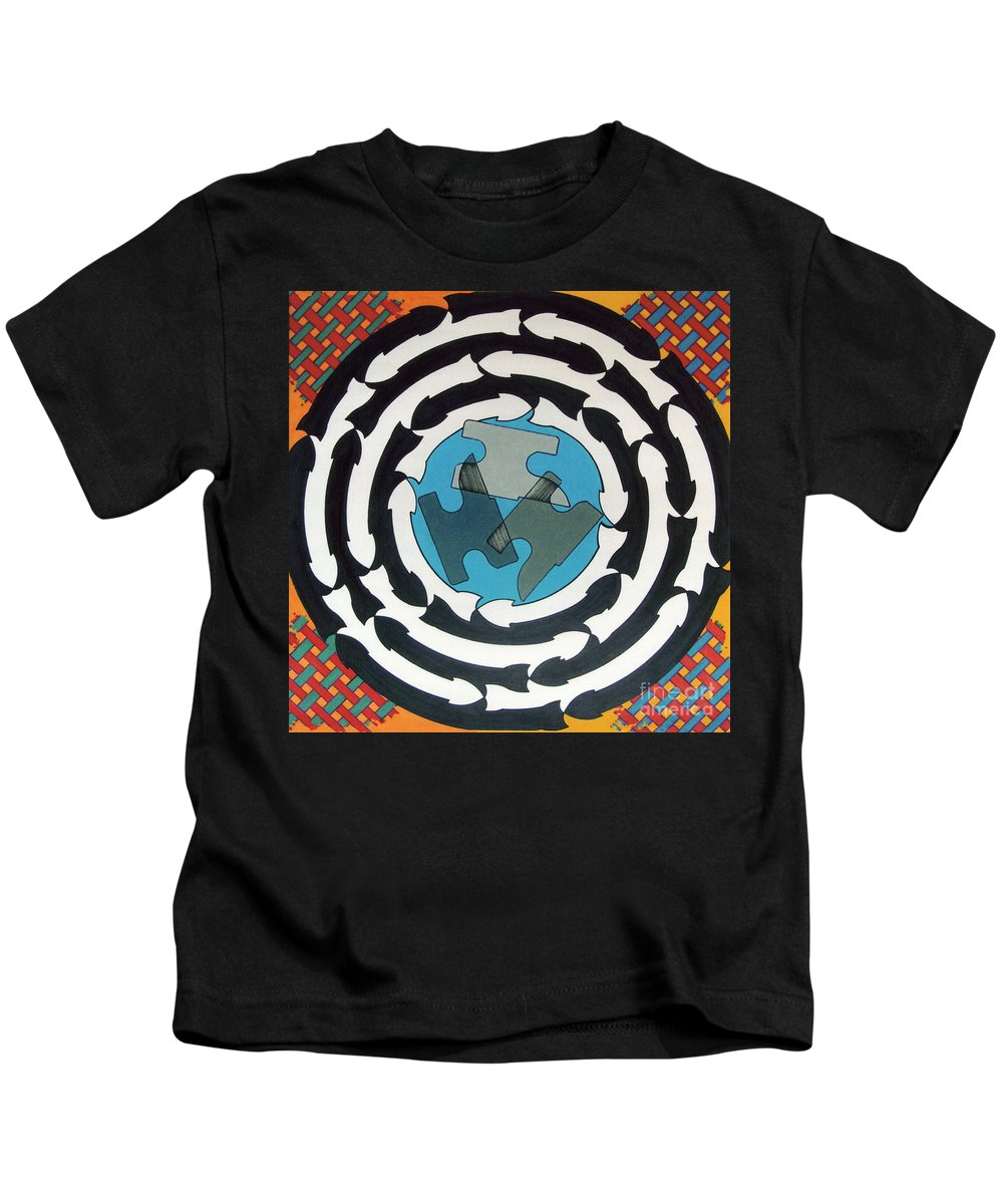 Directions Kids T-Shirt featuring the drawing Rfb0714 by Robert F Battles