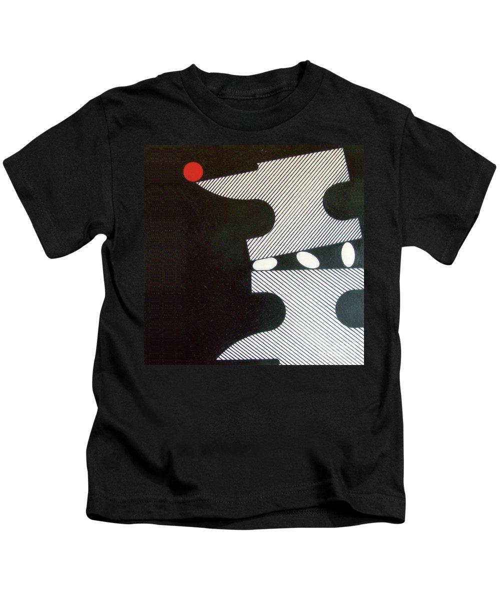 Dark Anvil Kids T-Shirt featuring the drawing Rfb0914 by Robert F Battles