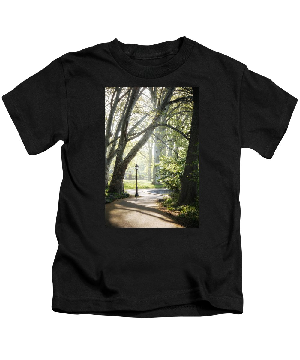Lantern Kids T-Shirt featuring the photograph Rhythm Of The Trees by Valeriy Shvetsov