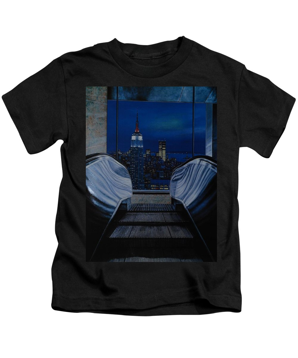 Lithograph Kids T-Shirt featuring the photograph Right To The Top by Rob Hans