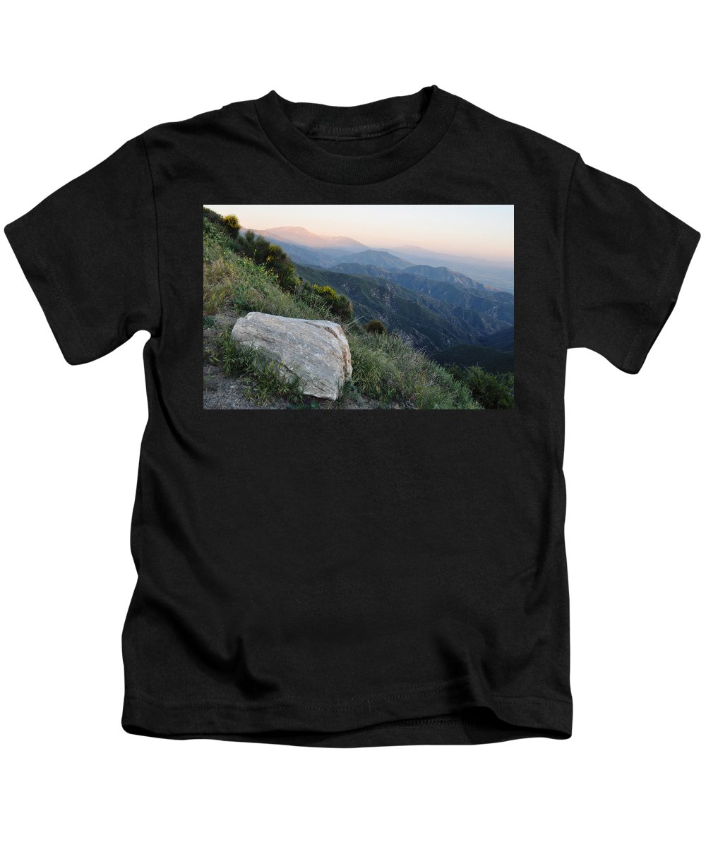 Rim Of The World Kids T-Shirt featuring the photograph Rim O' The World National Scenic Byway by Kyle Hanson