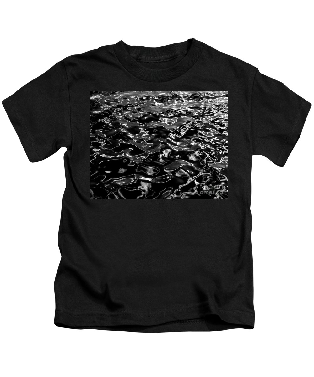 Black And White Kids T-Shirt featuring the photograph Ripples by Peter Piatt