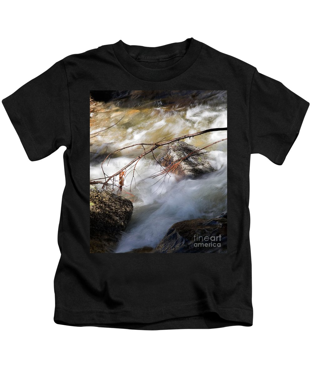 California Kids T-Shirt featuring the photograph River Rapids by Norman Andrus