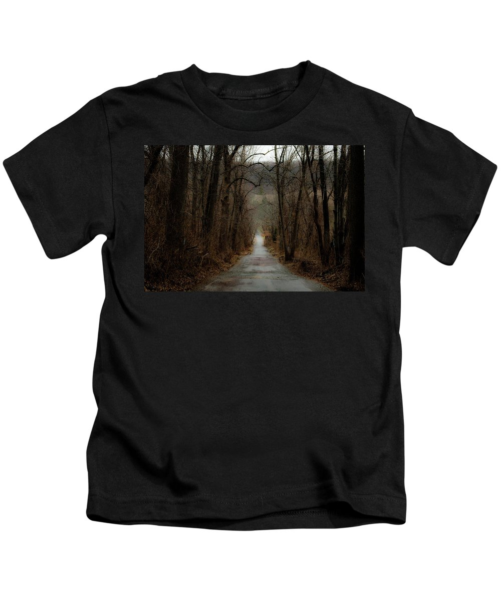 Trees Kids T-Shirt featuring the photograph Road To Wildlife by Trish Tritz