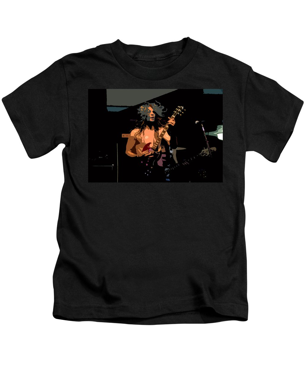 Rock N Roll Kids T-Shirt featuring the painting Rock N Roll by David Lee Thompson