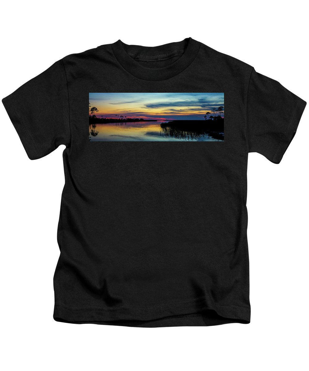 Sky Kids T-Shirt featuring the photograph Rocky Creek Sunset by Charlie Grindrod