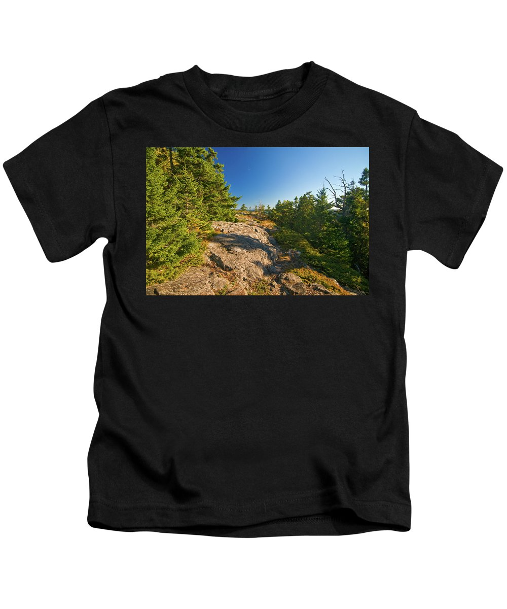 acadia National Park Kids T-Shirt featuring the photograph Rocky Trail by Paul Mangold