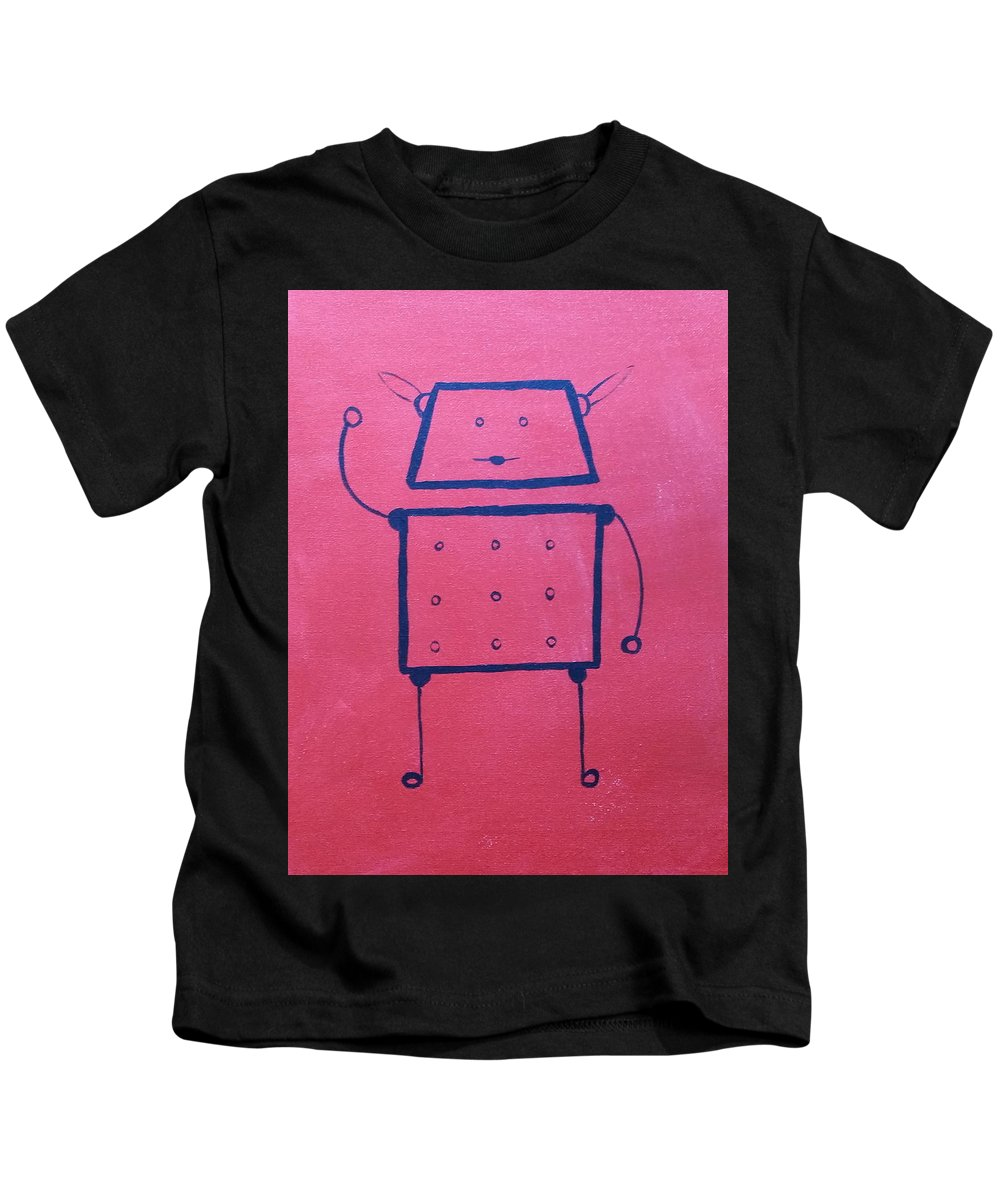Red Kids T-Shirt featuring the painting Roger by Kelly Brimberry