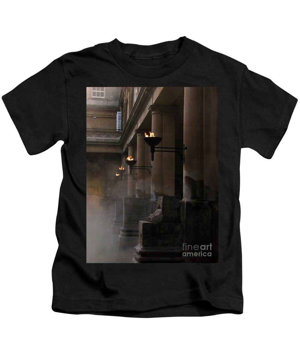 Bath Kids T-Shirt featuring the photograph Roman Baths by Amanda Barcon