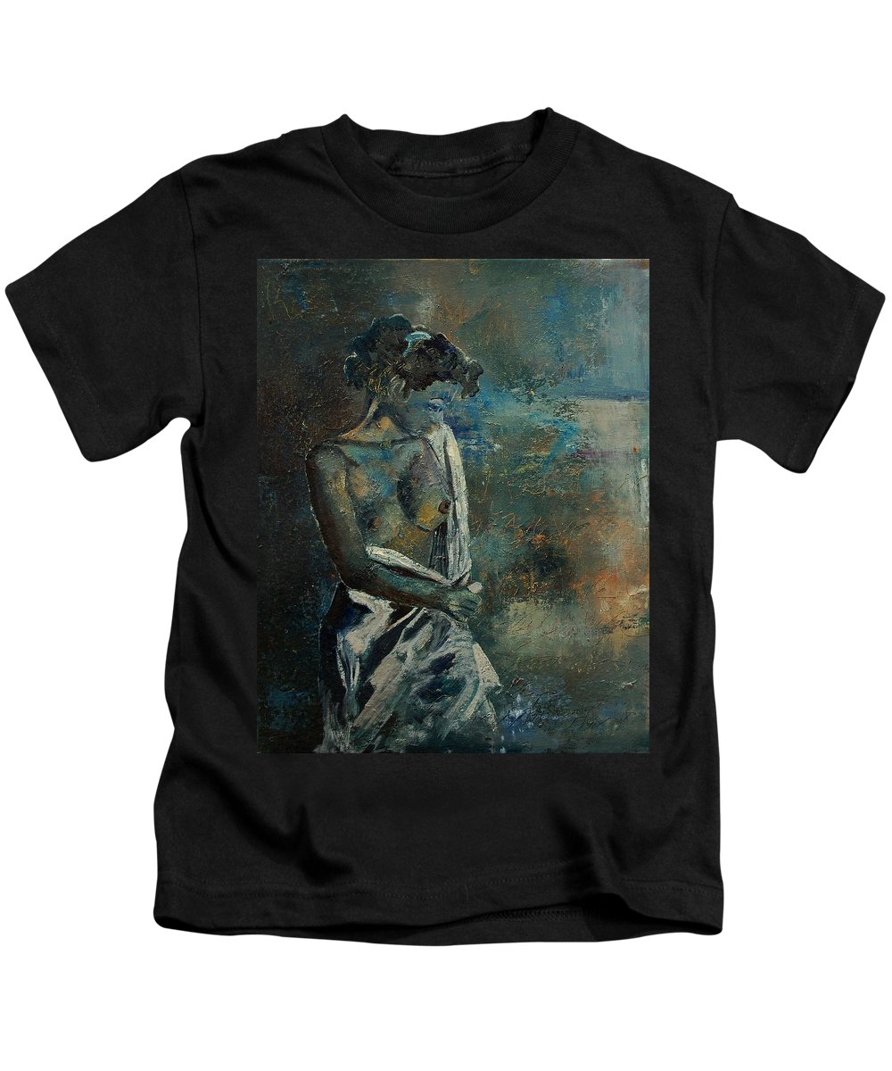 Nude Kids T-Shirt featuring the painting Roman Nude 45 by Pol Ledent