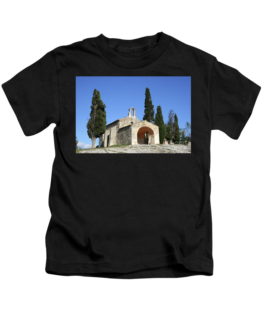 Chapel Kids T-Shirt featuring the photograph Romanesque Chapel Saint Sixte by Christiane Schulze Art And Photography