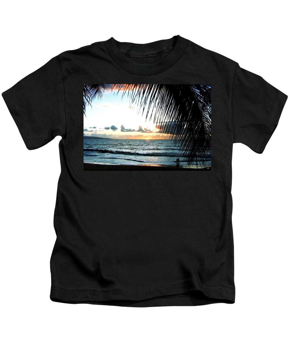 1986 Kids T-Shirt featuring the photograph Romantic Sunset by Will Borden