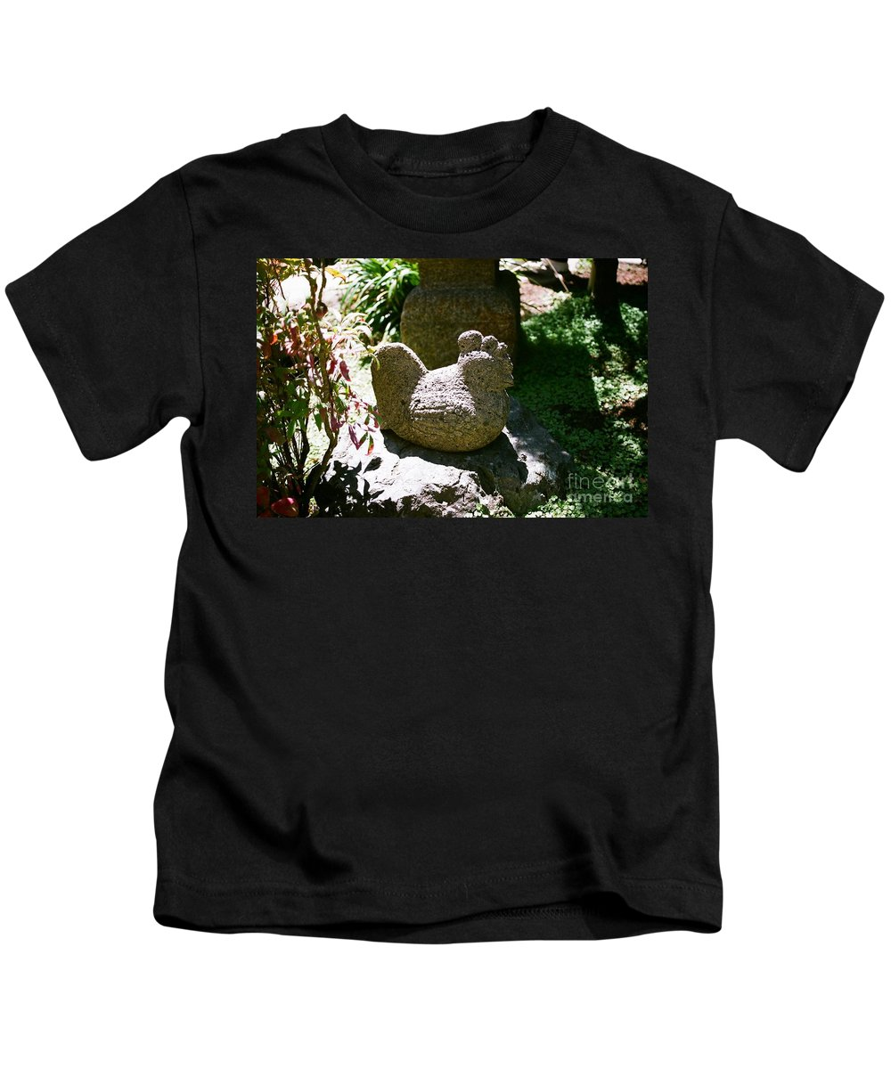 Stone Kids T-Shirt featuring the photograph Rooster by Dean Triolo