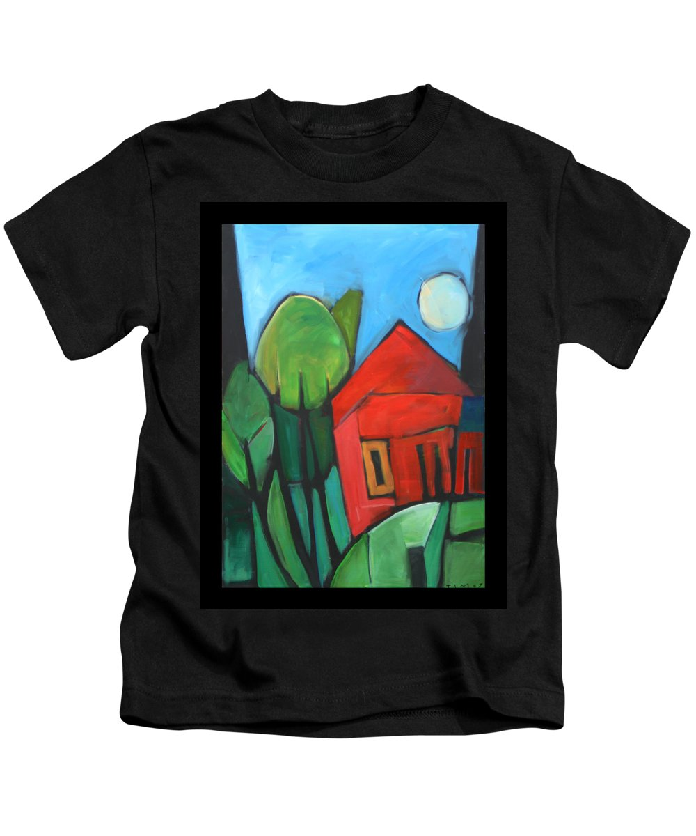 Trees Kids T-Shirt featuring the painting Root Cellar by Tim Nyberg