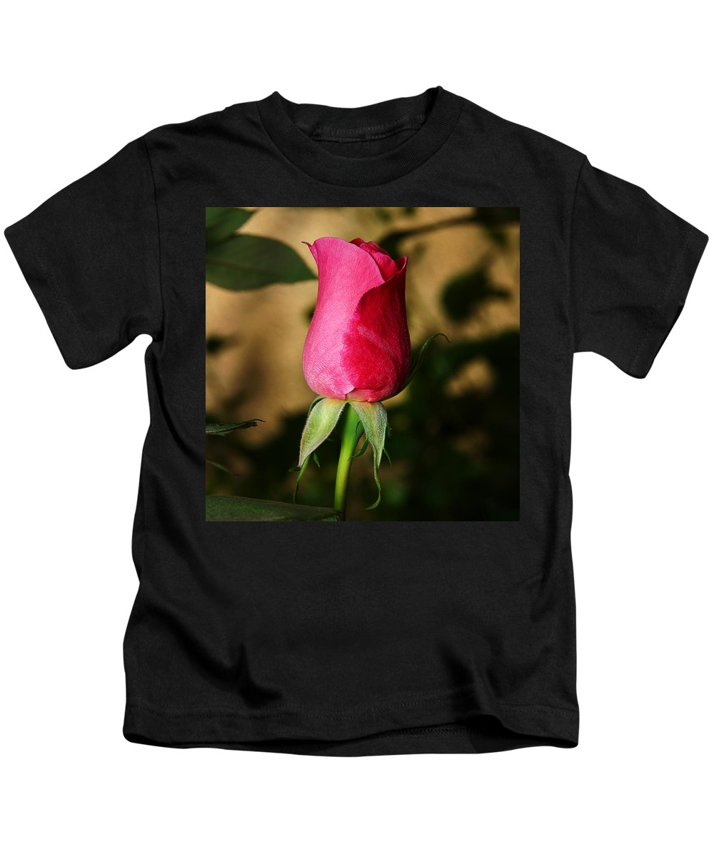 Rose Kids T-Shirt featuring the photograph Rose Bud by Anthony Jones