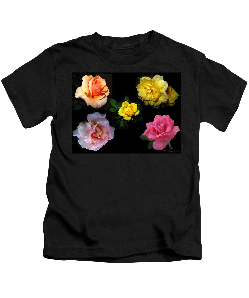 Rose Kids T-Shirt featuring the photograph Roses Beautiful by Joyce Dickens