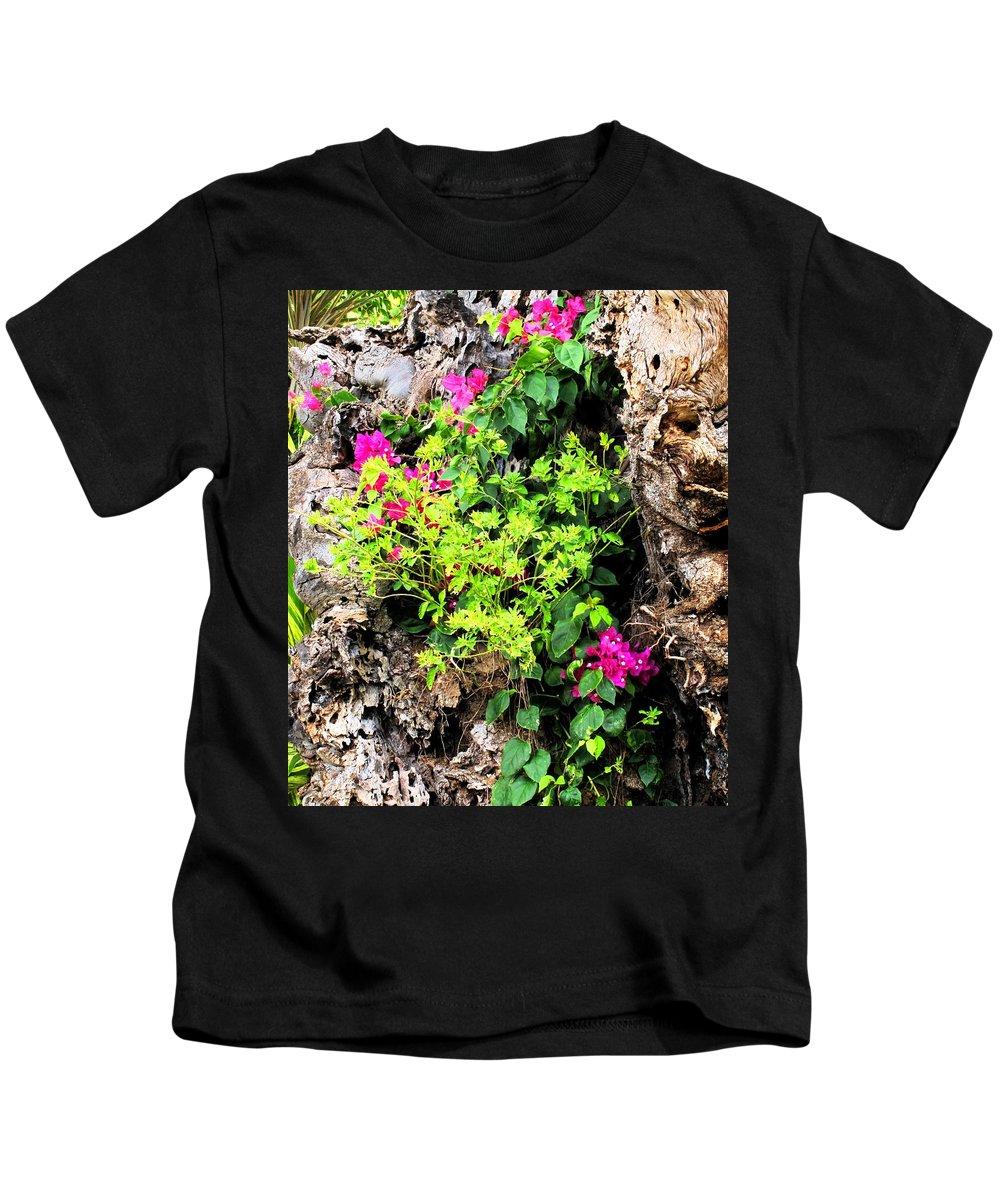 Flowers Kids T-Shirt featuring the photograph Rough Beauty by Ian MacDonald