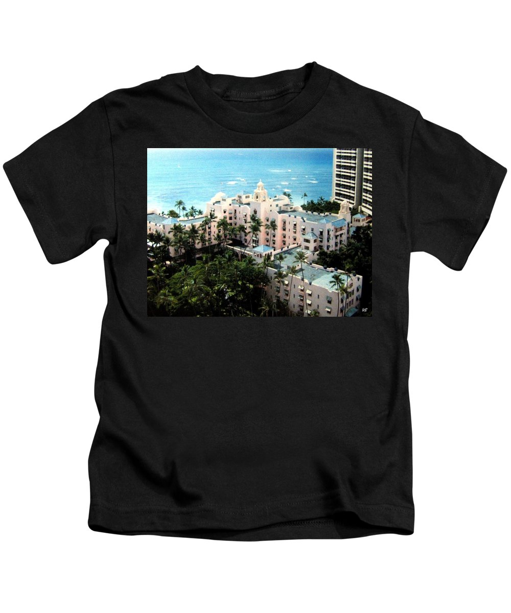 1986 Kids T-Shirt featuring the photograph Royal Hawaiian Hotel by Will Borden