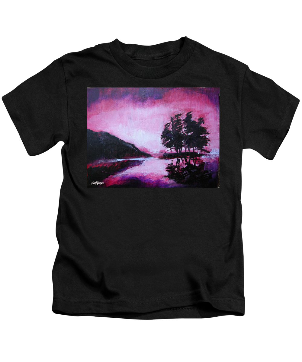 Ruby Dawn Kids T-Shirt featuring the painting Ruby Dawn by Seth Weaver