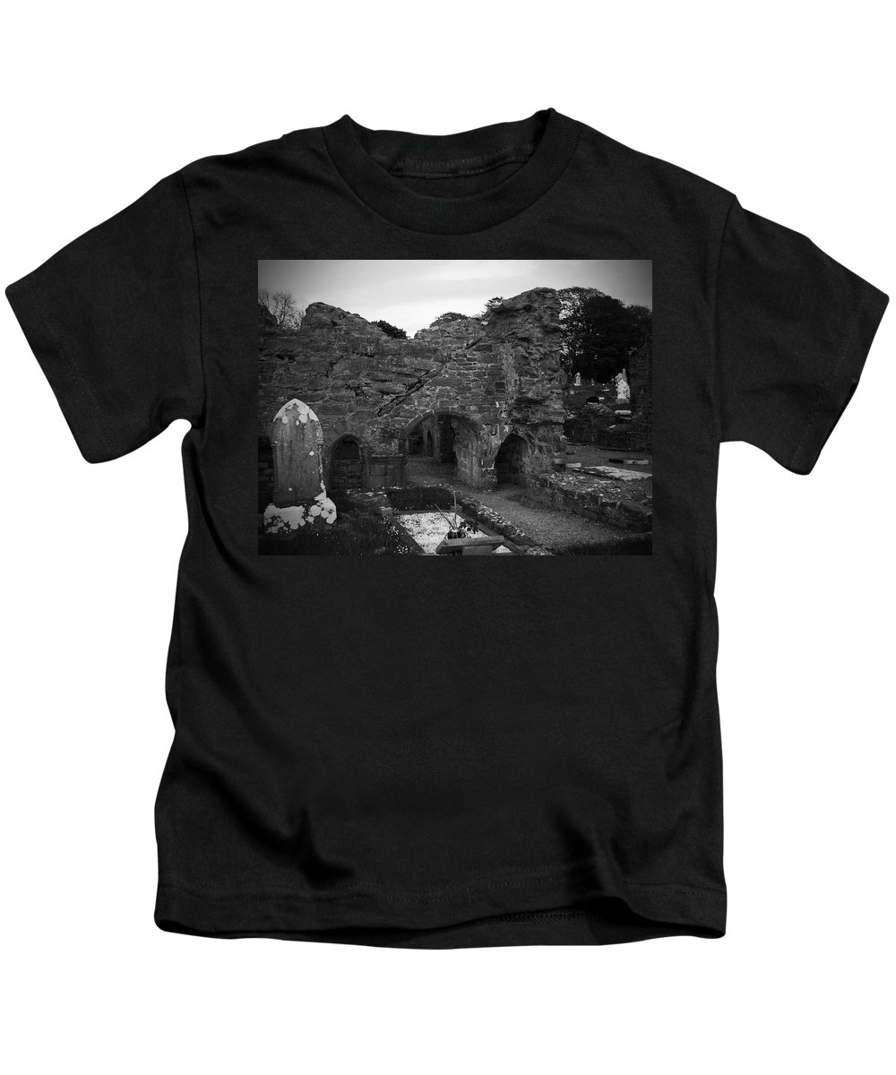 Irish Kids T-Shirt featuring the photograph Ruins At Donegal Abbey Donegal Ireland by Teresa Mucha