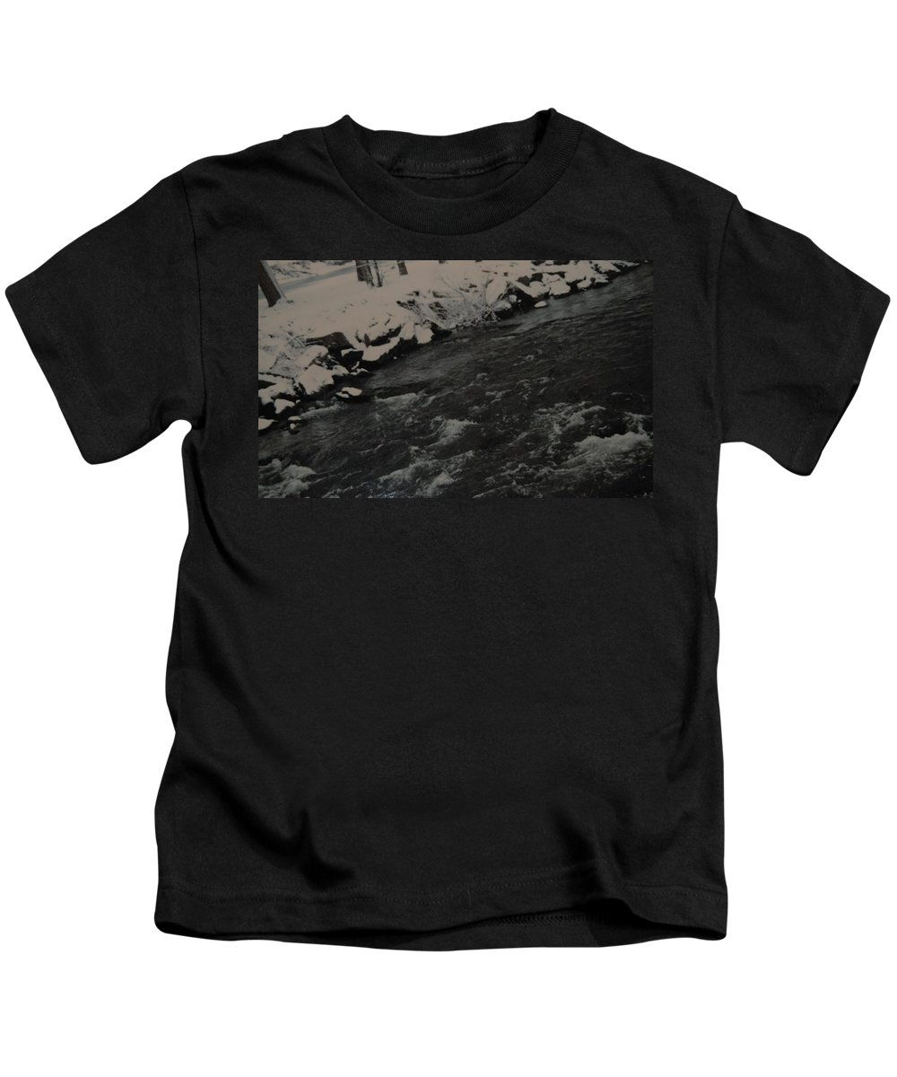 Landscape Kids T-Shirt featuring the photograph Running Water by Rob Hans