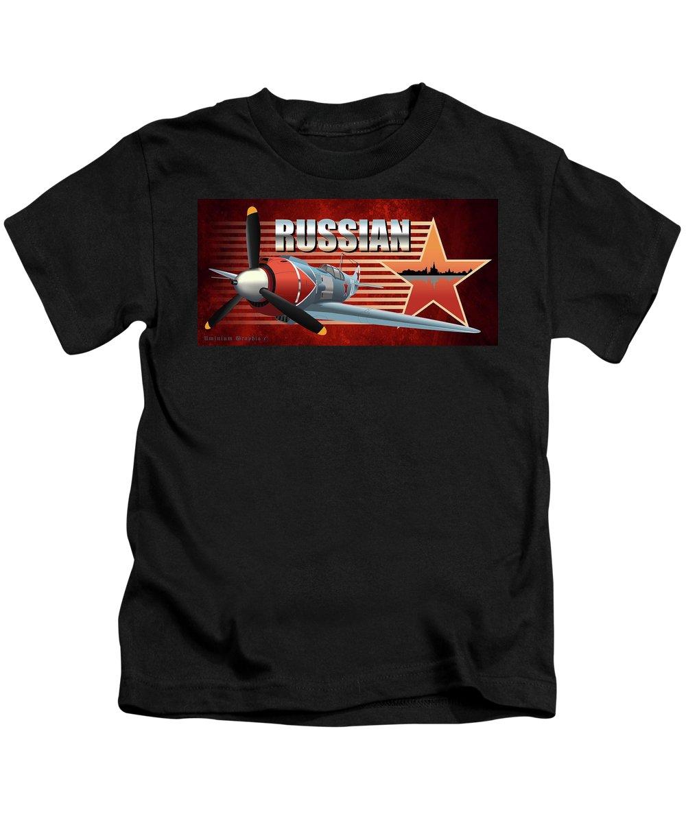 World War 2 Kids T-Shirt featuring the digital art Russian War Bird by William Pounds