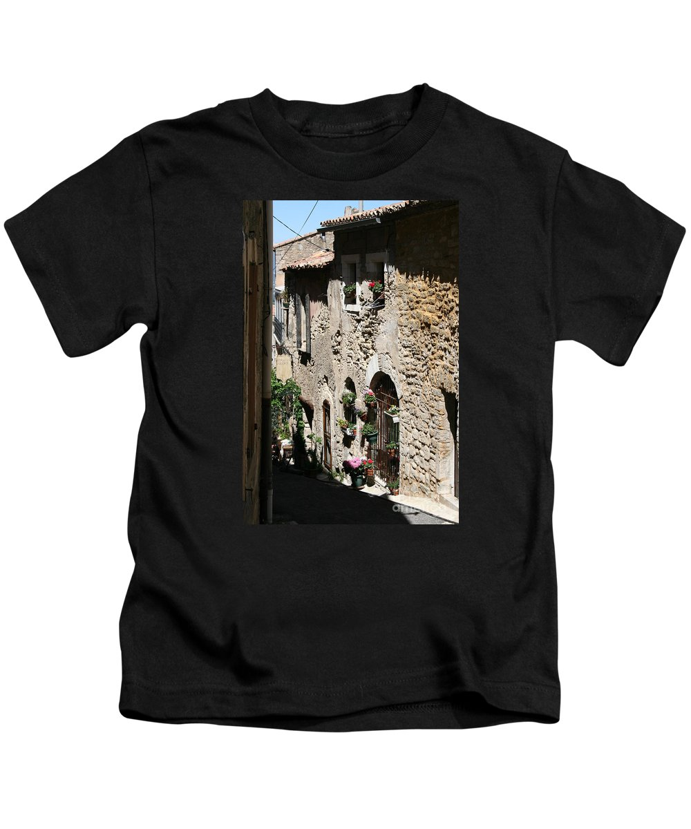 Alley Kids T-Shirt featuring the photograph Rustic Provence Alley by Christiane Schulze Art And Photography