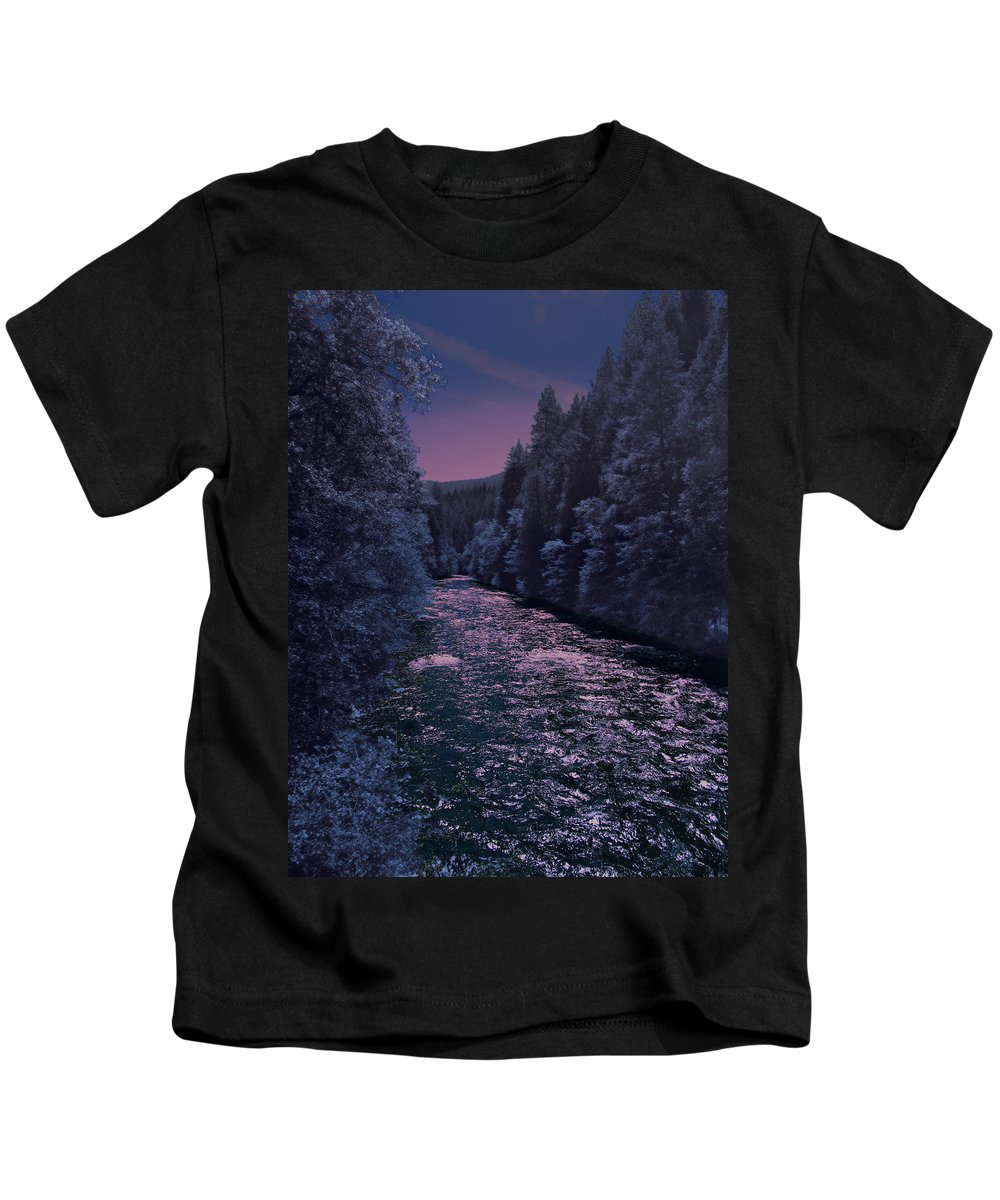 Landscape Kids T-Shirt featuring the photograph Sacramento River by Karen W Meyer