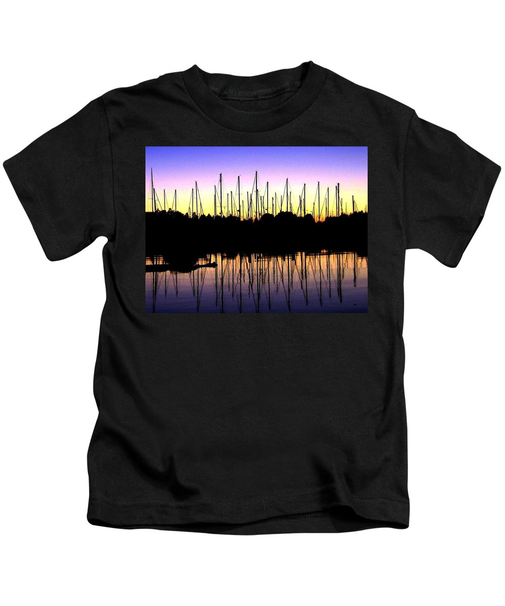 Sailboats Kids T-Shirt featuring the photograph Safe Haven by Will Borden