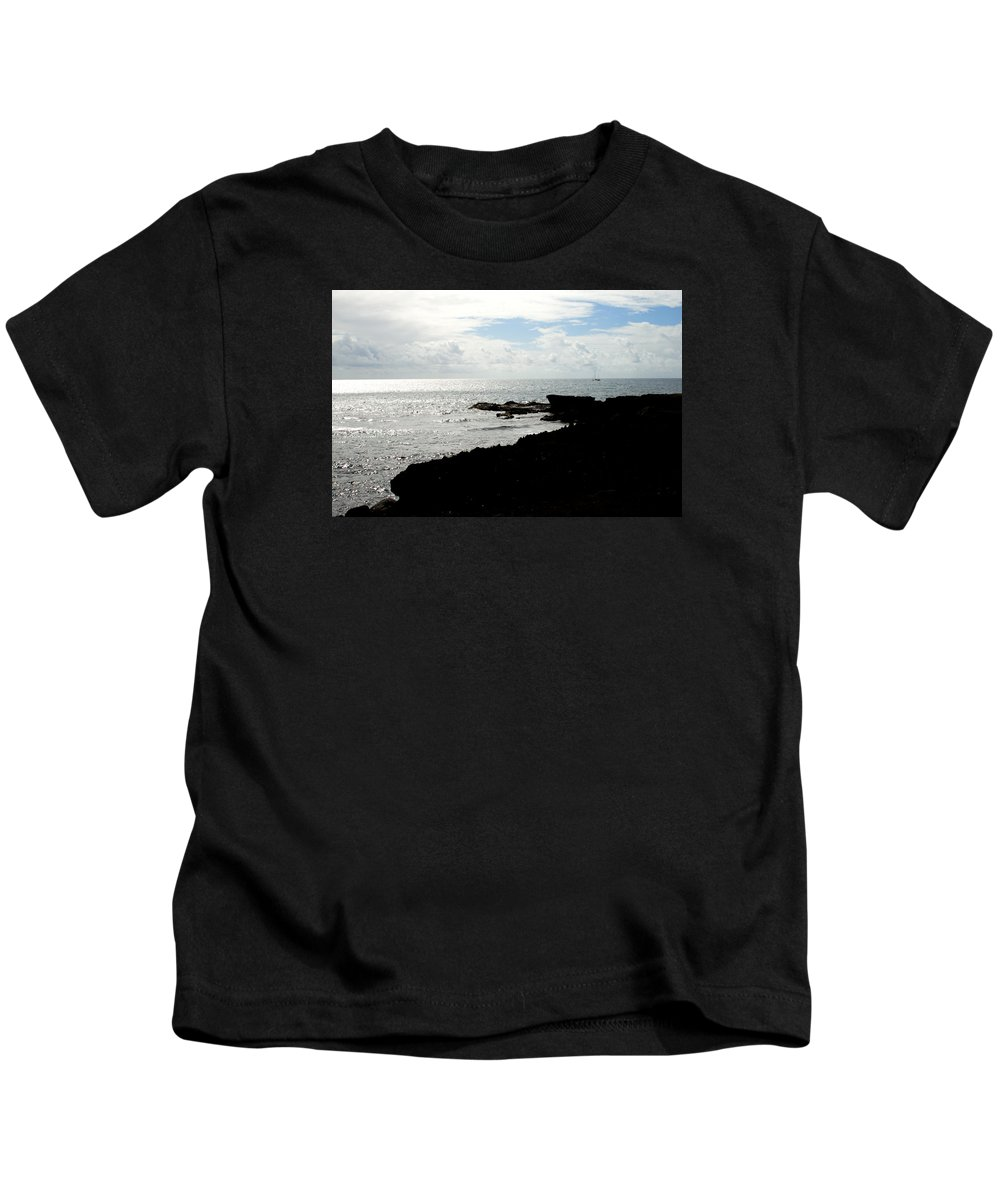 Sailboat Kids T-Shirt featuring the photograph Sailboat At Point by Jean Macaluso