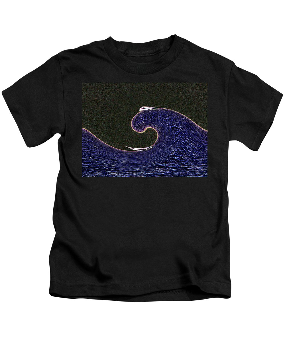 Sail Kids T-Shirt featuring the digital art Sailin The Wave by Tim Allen