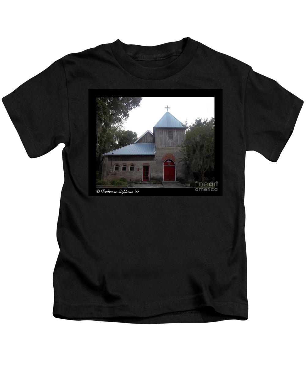 Saint Kids T-Shirt featuring the photograph Saint Cyprians Episcopal Church by Rebecca Stephens