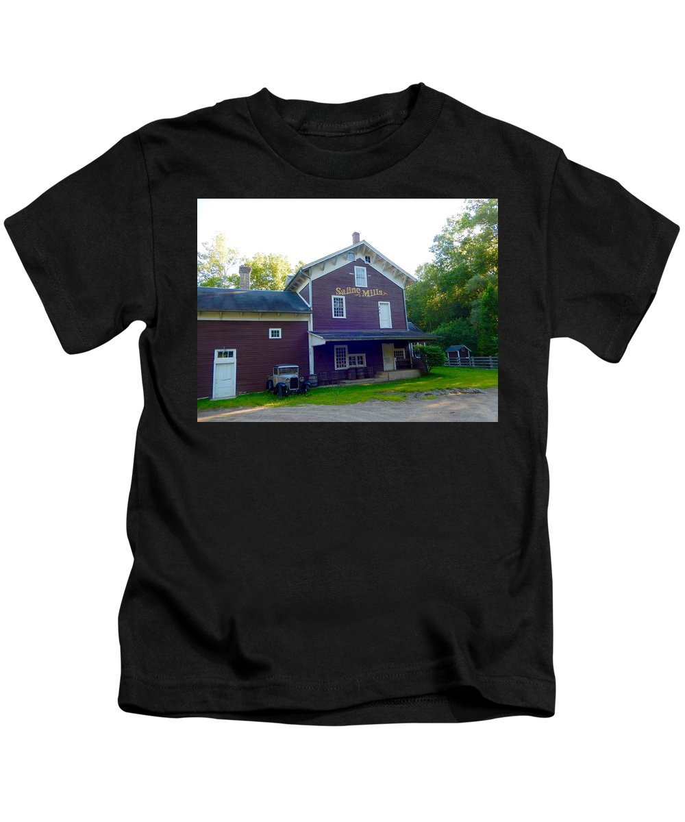 Old Kids T-Shirt featuring the photograph Saline Mills by Susan Wyman