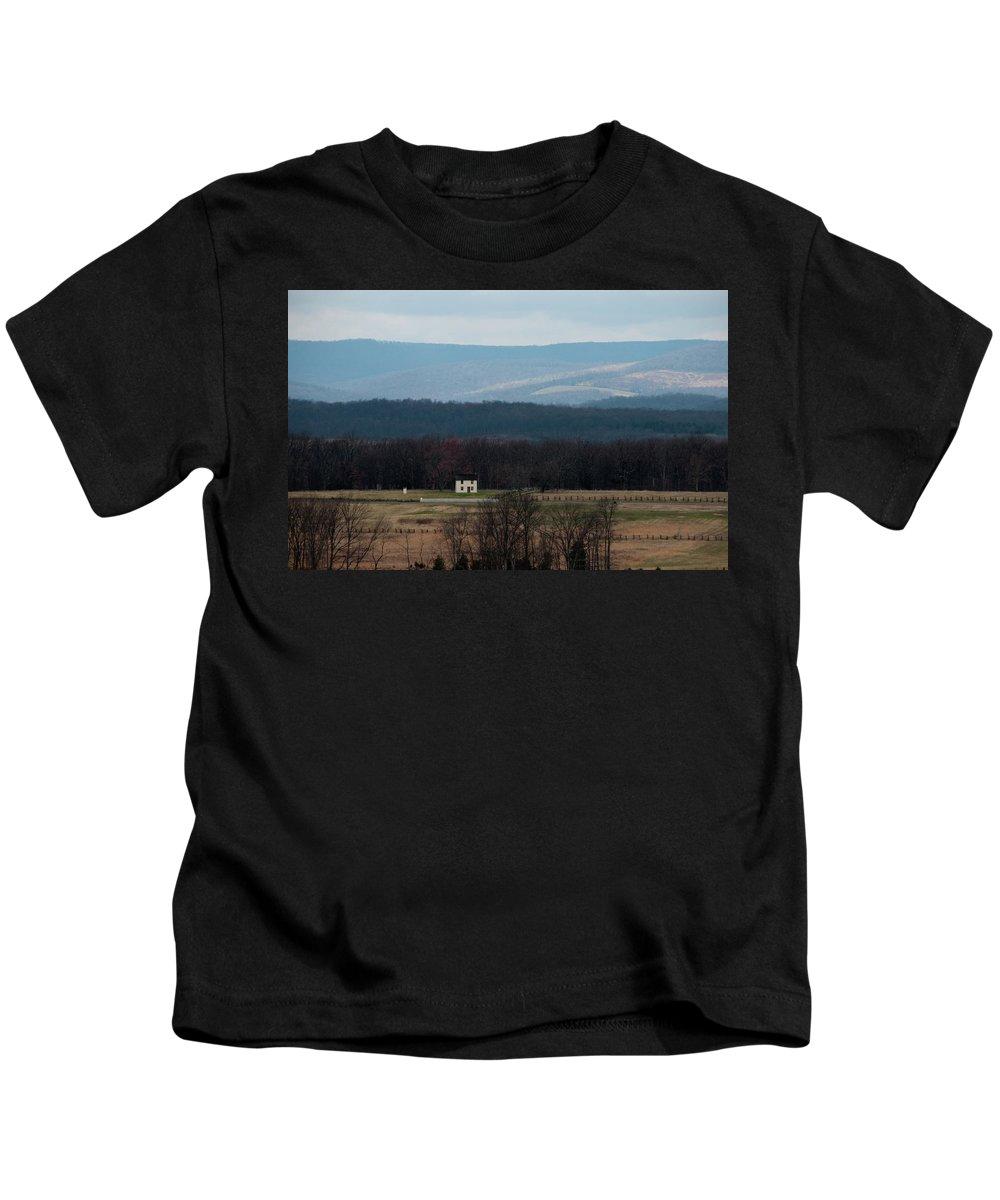 House Kids T-Shirt featuring the photograph Salt Box House by David Arment