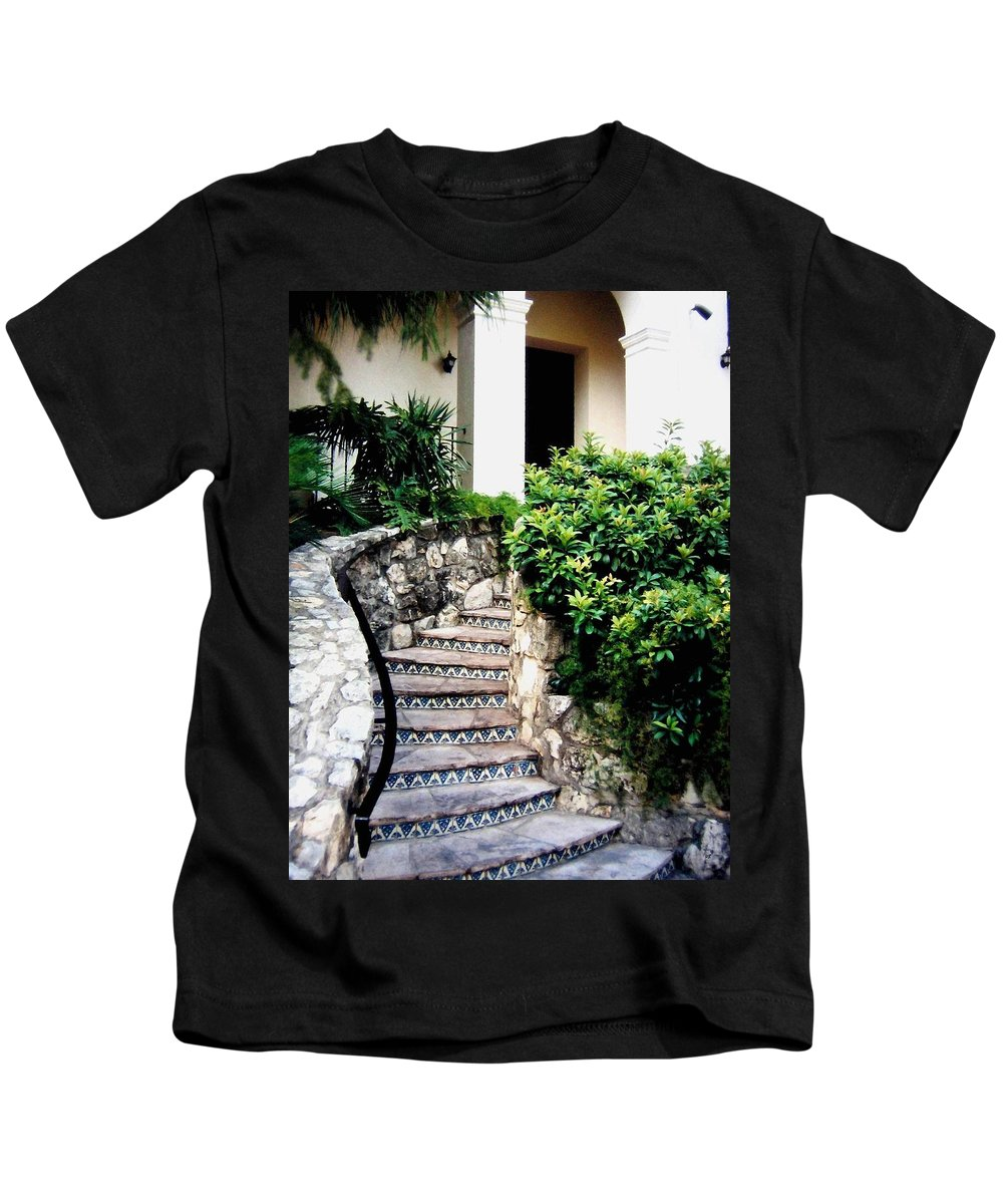 San Antonio Stairway Kids T-Shirt featuring the photograph San Antonio Stairway by Will Borden