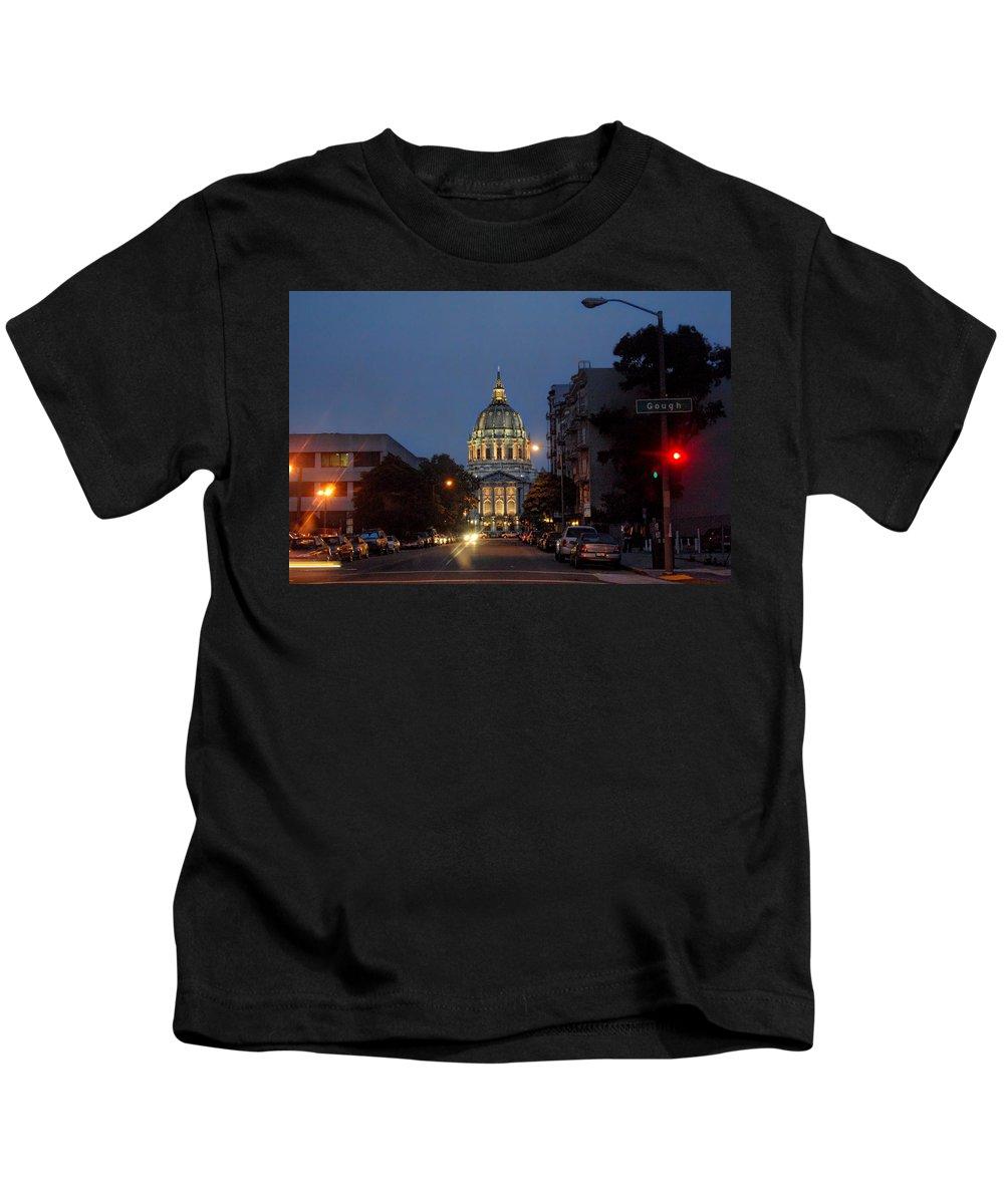 San Francisco Kids T-Shirt featuring the photograph San Francisgough by Donna Blackhall