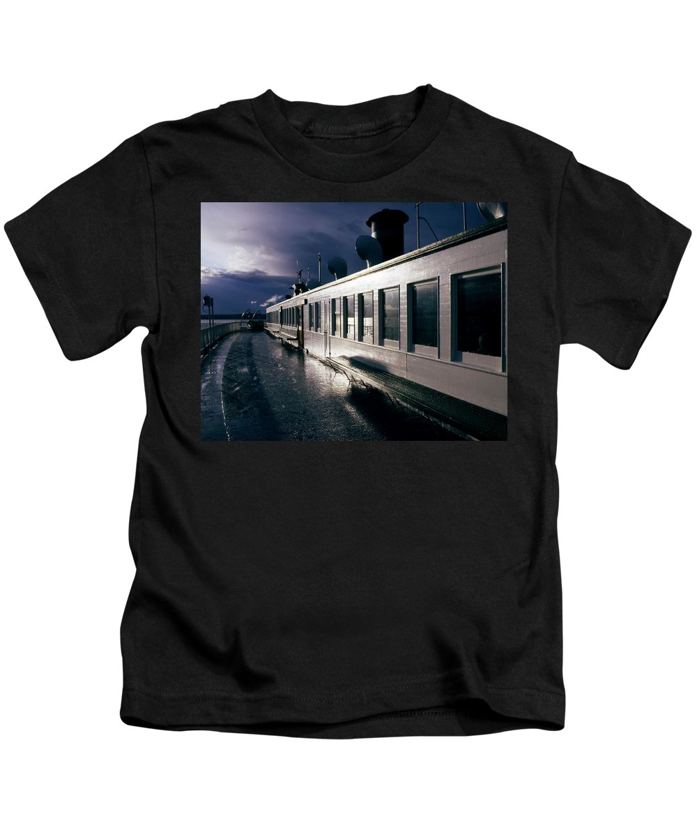 Scenic Kids T-Shirt featuring the photograph San Juan Islands Ferry by Lee Santa