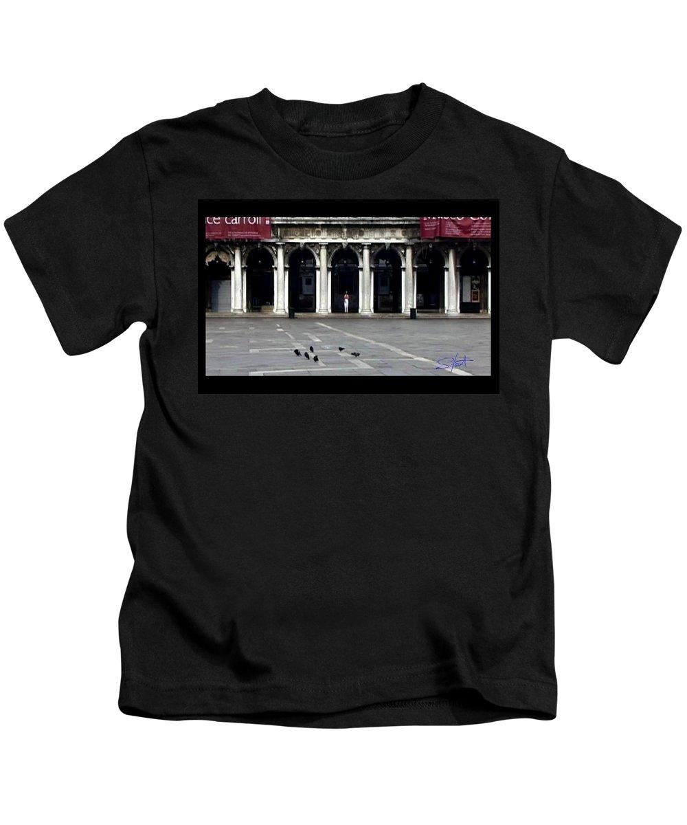Venice Kids T-Shirt featuring the photograph San Marco Venice by Charles Stuart