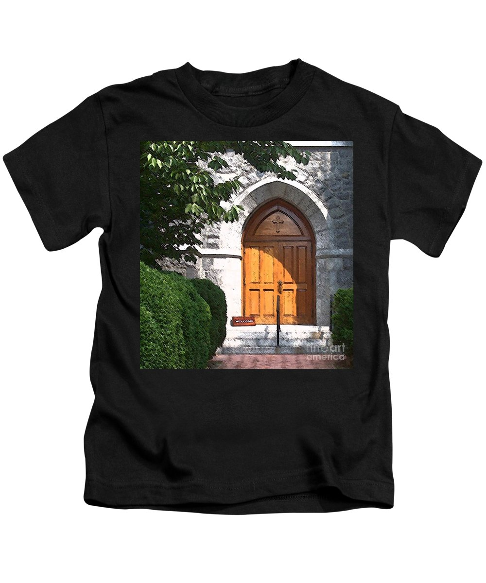 Church Kids T-Shirt featuring the photograph Sanctuary by Debbi Granruth