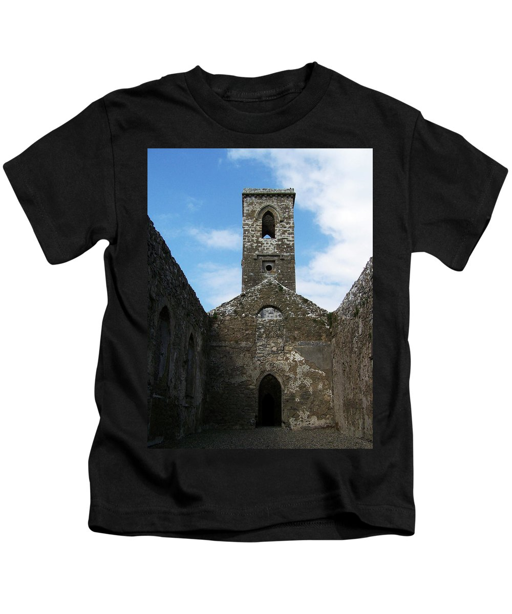 Ireland Kids T-Shirt featuring the photograph Sanctuary Fuerty Church Roscommon Ireland by Teresa Mucha