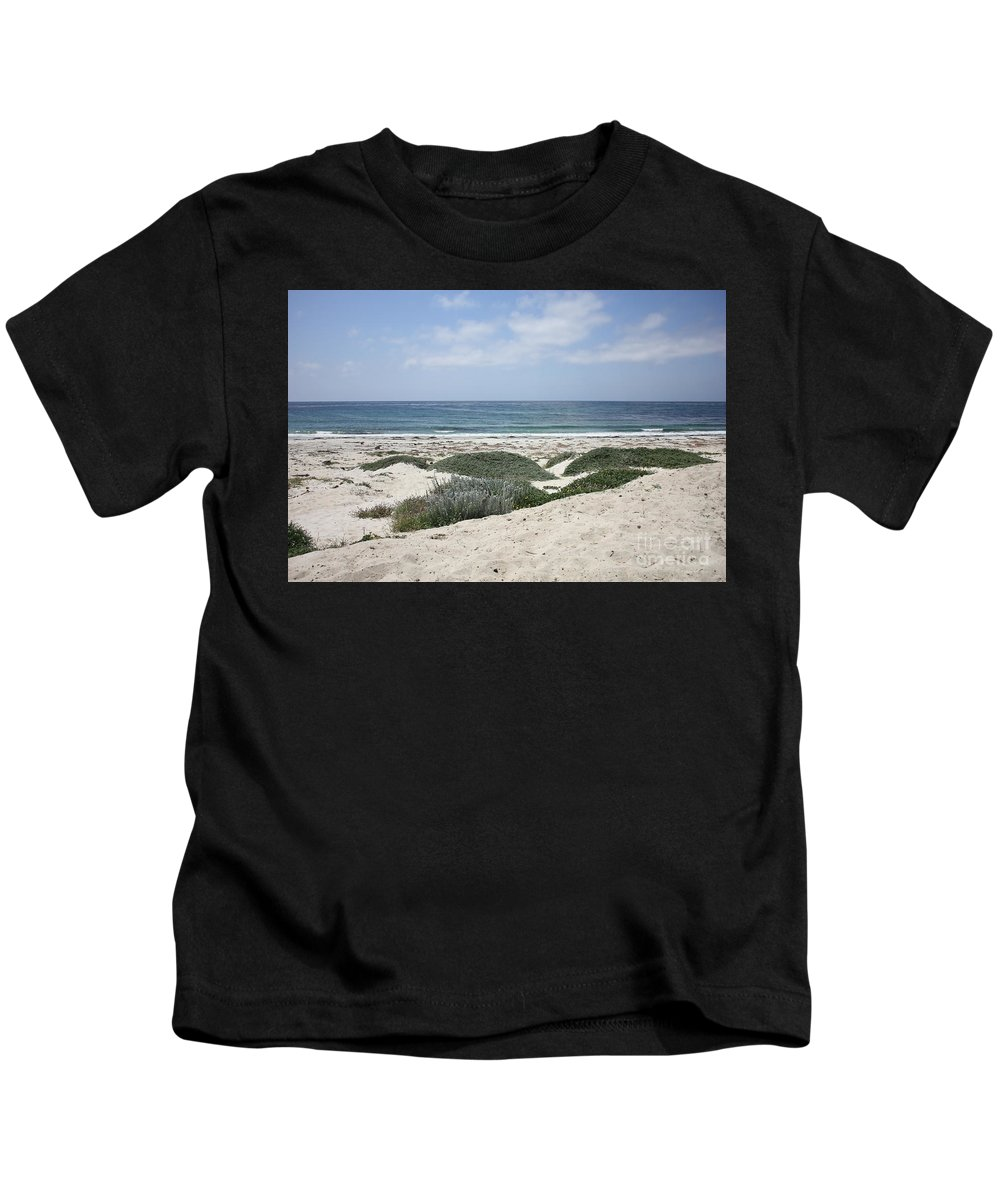 Sandy Beach Kids T-Shirt featuring the photograph Sand And Sea by Carol Groenen